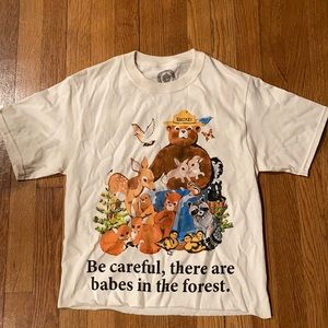 Smokey the bear graphic tee size small NWOT